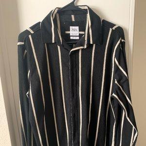 WORN ONCE Men's stripped ZARA Knit Shirt M